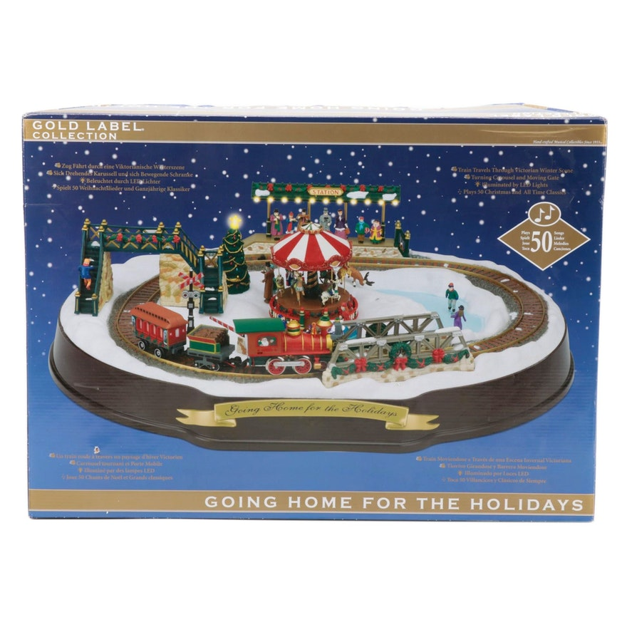Mr. Christmas Gold Label Collection Holiday Model Train Set, Original Packaging