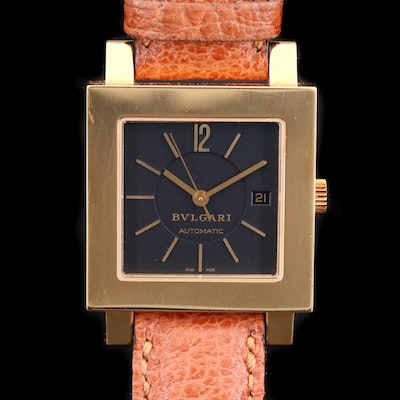 Bvlgari Quadrato 18K Automatic Wristwatch