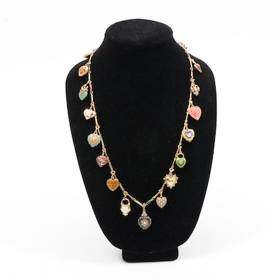 """Joan Rivers """"Hearts and Flowers"""" Necklace"""