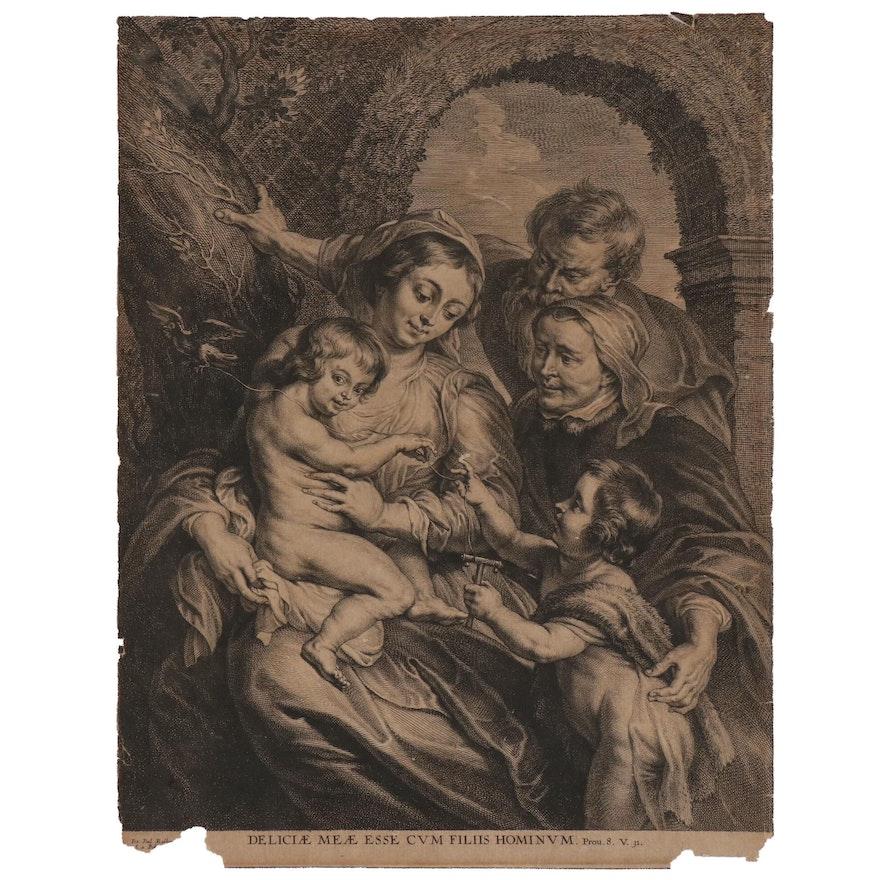 Schelte a Bolswert Engraving after Peter Paul Rubens