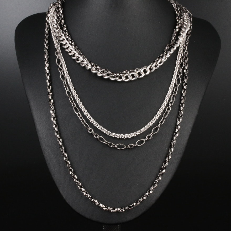 Stephen Webster Sterling Silver Multi-Chain Necklace