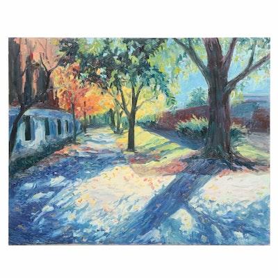 Farnoosh Lanjani Autumn Landscape Oil Painting
