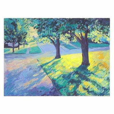 Farnoosh Lanjani Suburban Landscape Oil Painting, 2005