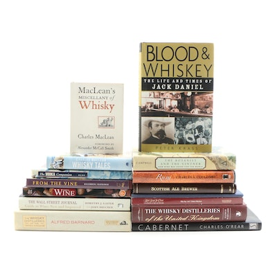 """Wine and Spirit Book Grouping featuring Signed First Edition """"Blood & Whisky"""""""