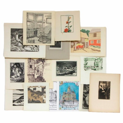 Hans A. Mueller and Other Intaglio Prints, Etchings, and Drawings