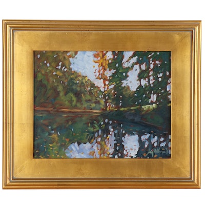 "Jay Wilford Landscape Oil Painting ""Early Fall"""