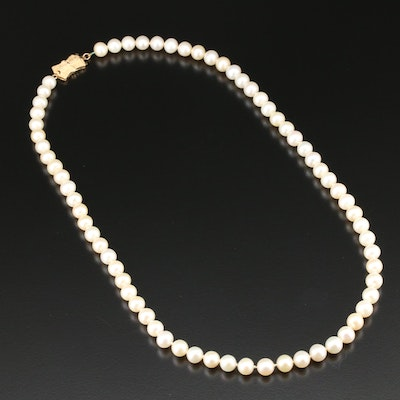 Blue Lagoon by Mikimoto Pearl Strand Necklace with 14K Gold Clasp