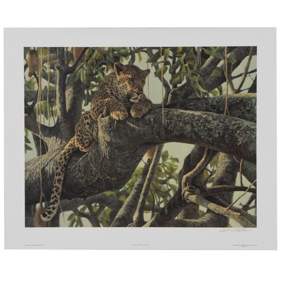 "Robert Bateman Offset Lithograph ""Leopard in a Sausage Tree"""