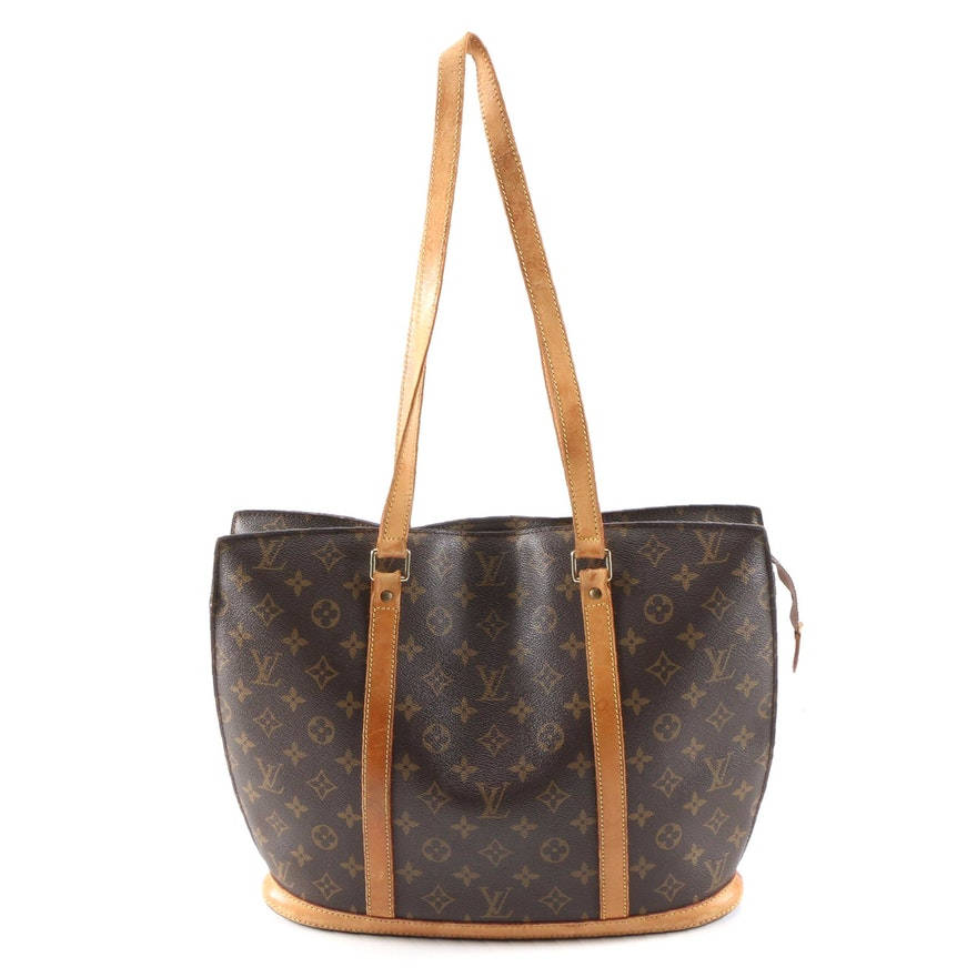 Louis Vuitton Babylone Shoulder Tote in Monogram Canvas and Leather