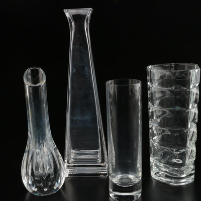 Tiffany & Co. and Baccarat and Other Crystal Vases