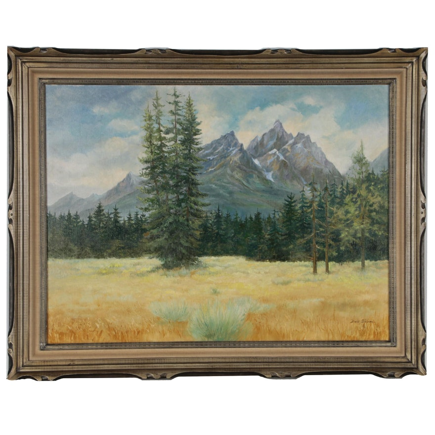 Dale Wilson Western Mountain Landscape Oil Painting