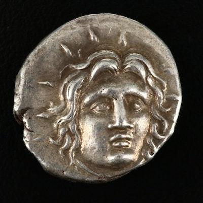 Ancient Rhodes, Caria, AR Didrachm, ca. 250 B.C