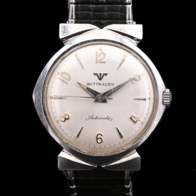 Vintage Wittnauer Stainless Steel Automatic Wristwatch