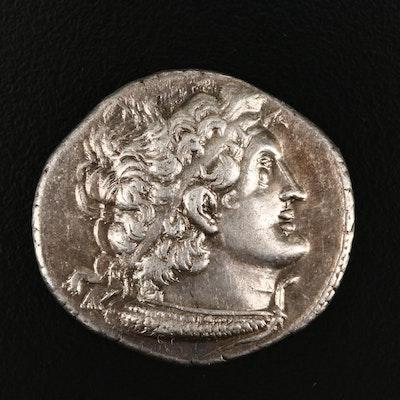 Ancient Ptolemaic Egypt Ptolemy XII AR Tetradrachm, 79 B.C.