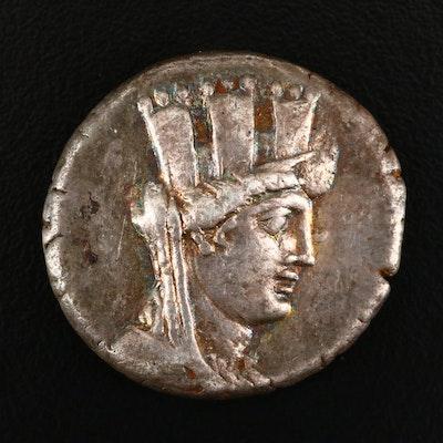 Ancient Arados, Phoenicia AR Tetradrachm, 76 B.C.