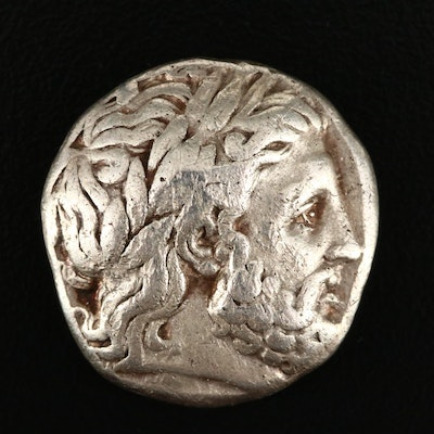 Ancient Macedonian Kingdom, Philip II AR Tetradrachm, ca. 349 B.C.