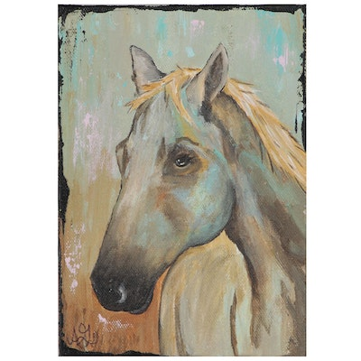 Stella Gore Acrylic Painting of Horse