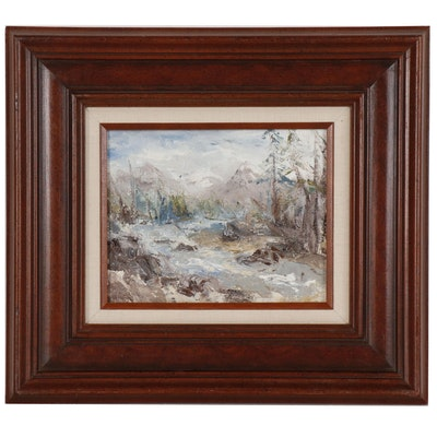 Amy Koneval Landscape Oil Painting, Late 20th Century