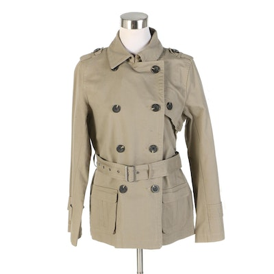 J. Peterman Double-Breasted Trench Jacket in Khaki