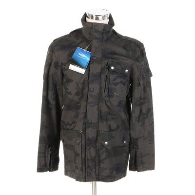 Men's Triumph Motorcycles Ripstop Camouflage Jacket with Original Tags