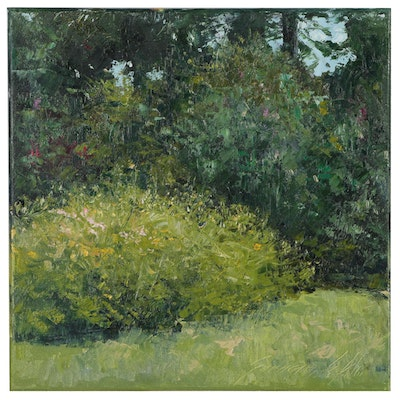 "Garncarek Aleksander Oil Painting ""In the Garden"""