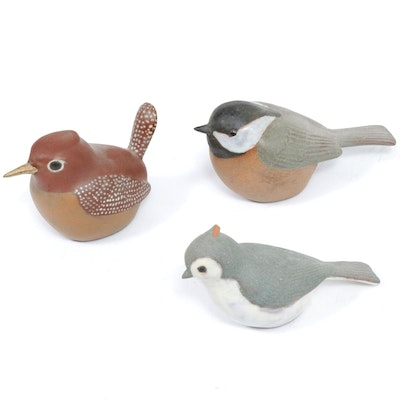 Nicodemus Ferro-Stone Bird Figurines, Mid to Late 20th Century