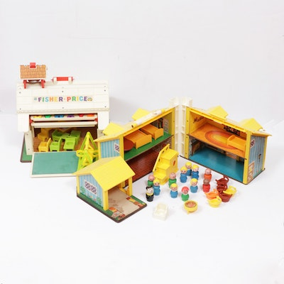 """Fisher Price """"Play Family School"""" and """"Play Family House"""""""
