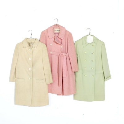 Montaldo's Single and Double-Breasted Wool Coats, 1960s Vintage