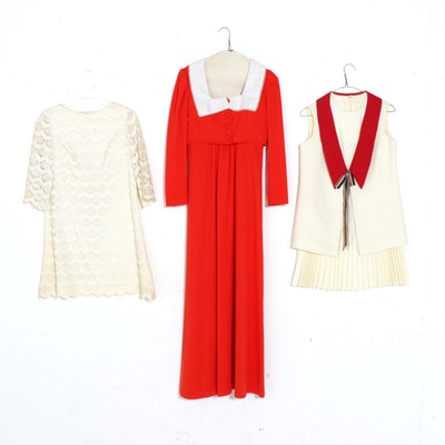 Lace Dress and Dress and Skirt Sets, Vintage