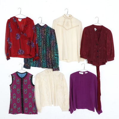 Silk Blouses Featuring Saks Fifth Avenue and More