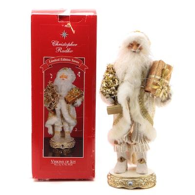"Christopher Radko ""Visions of Joy"" Musical Santa Claus Figurine"
