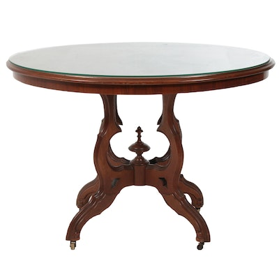 Victorian Walnut Center Table, Late 19th Century