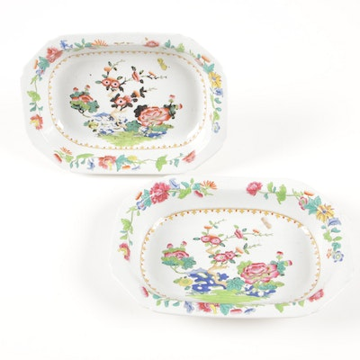 "Spode Stone China ""Chinoiserie"" Open Vegetable Dishes, 1813-21"