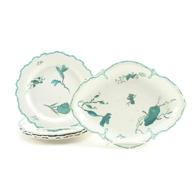 Wedgwood Pearlware with Green Enamel Sea Creatures, 1800-1812
