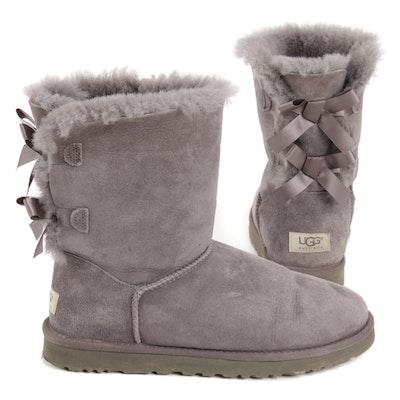 UGG Australia Bailey Bow II Grey Shearling Boots
