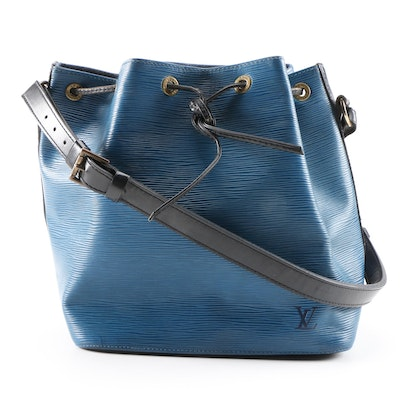 Louis Vuitton Noé in Bi-Color Blue and Black Epi Leather