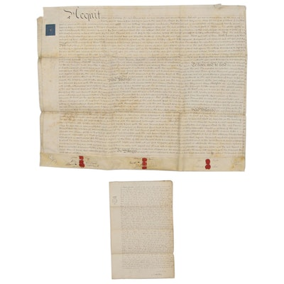 British Indenture and Discharge  Renunciation Documents, Early 19th Century