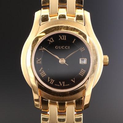 Gucci 5400L Gold Tone Quartz Wristwatch