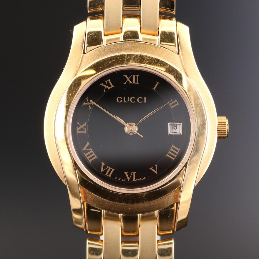 Gucci 5400L Gold Tone Quartz Wristwatch