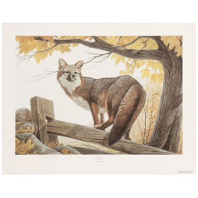 "John Ruthven Offset Lithograph ""Red Fox"""