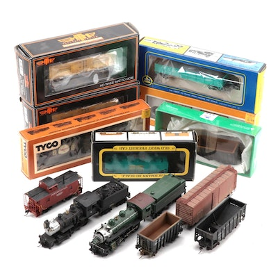 M.T.H., Cox, Tyco, AHM, and Bachman HO Scale Train Cars in Original Packaging