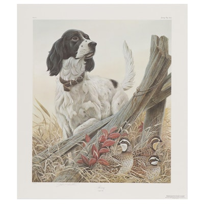 "John Ruthven Offset Lithograph ""Rummy: English Setter"""