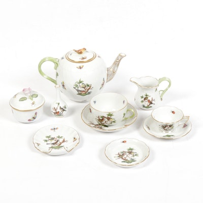 "Herend ""Rothschild Bird"" Hand-Painted Porcelain Tea Service"