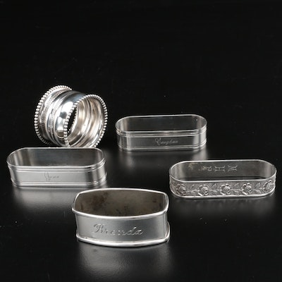 American Sterling Silver Napkin Rings