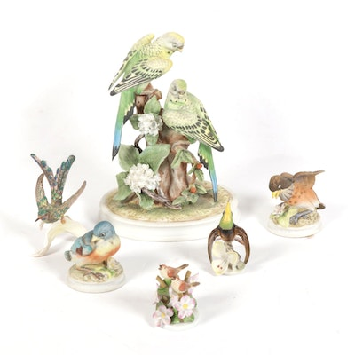Herend, Andrea by Sadek, Lefton and Other Porcelain Bird Figurines
