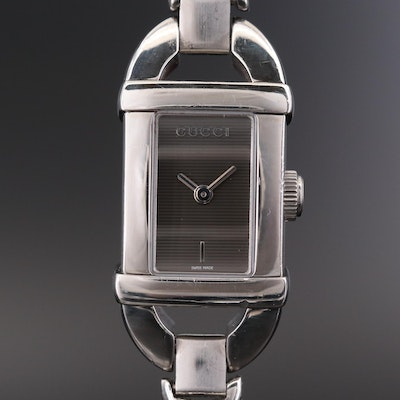 Gucci 6800L Stainless Steel Quartz Wristwatch