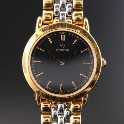Stainless Steel Two Tone Eterna Swiss Quartz Wristwatch