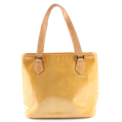 Louis Vuitton Houston Shoulder Tote in Monogram Vernis and Vachetta Leather