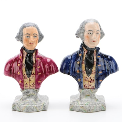 "Staffordshire Busts Depicting ""George Washington"", Late 19th Century"