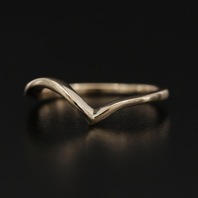 14K Yellow Gold Contour Band